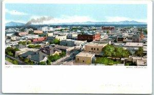 Tucson, Arizona Postcard Bird's-Eye Panorama Downtown View Detroit Pub. c1900s
