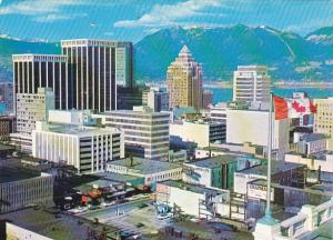 Canada Bentall-Marine Buildings and Mountain Skyline Vancouver British Columbia