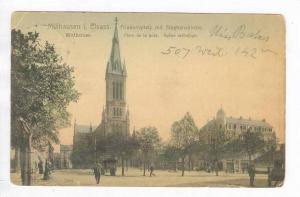 Mulhausen, Bas-Rhin (Mul hausen i. Elsass., PU-1908, Friedensplatz mit Stepha...