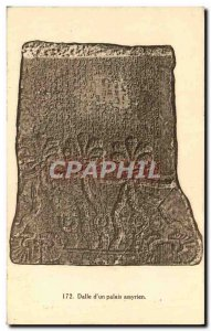 Old Postcard Dalle d & # 39un Assyrian Palace