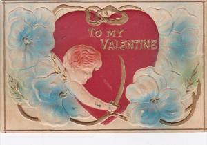 Valentine's Day Cupid Shooting Arrow 1911