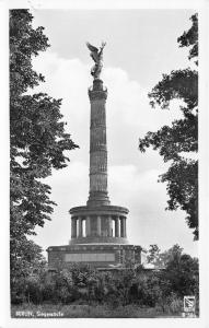 Berlin Germany~Siegessaule~Victory Column~1950s RPPC Postcard