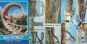 Sea World Gold Coast Australia Cap D'Agde France 3 Aqualand Theme Park Postcard