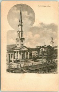 Savannah, Georgia Postcard INDEPENDENT PRESBYTERIAN CHURCH c1900s UNUSED