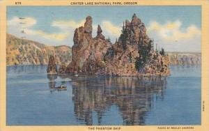 Orehon Crater Lake National Monument The Phantom Ship 1951 Curteich