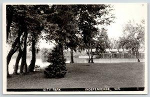 Independence Wisconsin~City Park Bridge~1950s RPPC