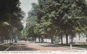 PRINCETON, Illinois, 1900-1910's; South St., Looking West From Euclid Ave