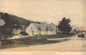 Katouah New York Presbyterian Church Street View Antique Postcard K51575