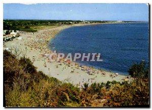 Modern Postcard La Cote Vermeille Argeles sur Mer overview of the Beach