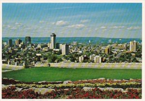 Canada A View Of The City And Harbour From Atop Hamilton Mountain Hamilton On...