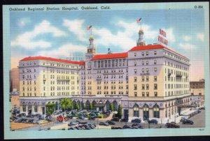 California OAKLAND Regional Station Hospital with older cars - LINEN