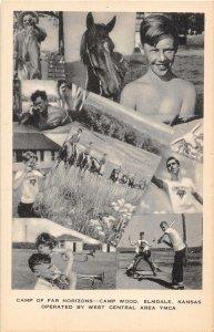 YMCA Camp Wood Far Horizons Elmdale Kansas postcard