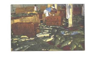 Factory Interior, Preparing Salmon for Canning, Astoria, Oregon