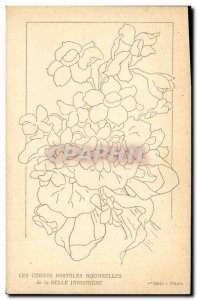 Old Postcard Fantasy Flowers Belle Jardiniere