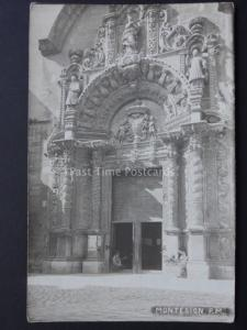 Spain: Montesion P.M West Door of Church - Old RP Postcard