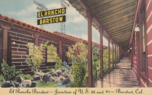 BARSTOWN, El Rancho Barstow, California 30-40s ; Route '66' / RT 66