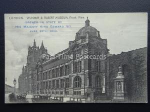 VICTORIA & ALBERT MUSEUM Opening Ceremony Souvenir 26th June 1909 Postcard