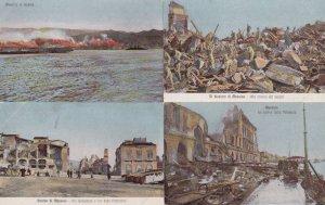 Messina Il Disastro Alla Ricerca Dei Pepolti 4x Italian Earthquake Postcard s