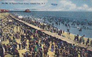 Typical Beach Scene At Atlantic City New Jersey