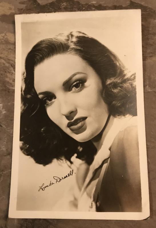 Linda Darnell Actor Real Photo Postcard