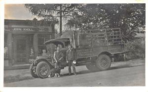 So. Manchester CT Cigar Store Local & Long Distance Delivery Truck RPPC Postcard
