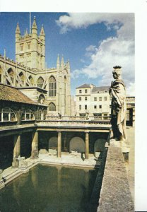 Somerset Postcard - Bath Abbey and The Great Roman Bath - Ref 18488A