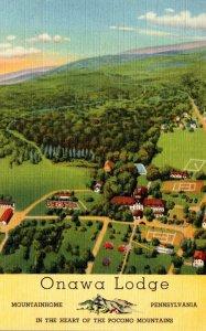 Pennsylvania Mountainhome Onawa Lodge 1943 Curteich