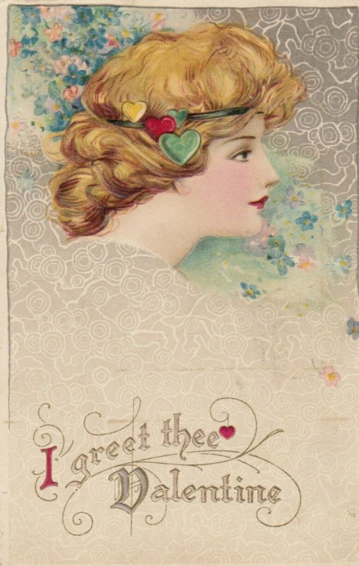 John Winsch 1900-10s ; VALENTINE ; Head Portrait