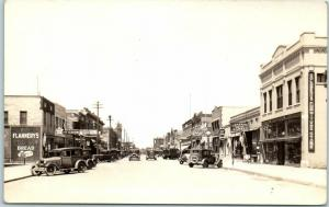 Chamberlain, SD Photo RPPC Postcard SOUTH FIFTH AVENUE Downtown Stores c1930s