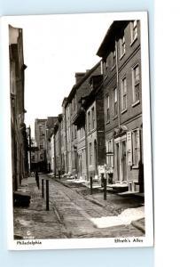 *1930s Elfreth's Alley Philadelphia PA RPPC Vintage Real Photo Postcard C26