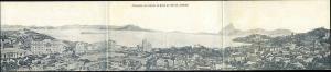 brazil, RIO DE JANEIRO, Triple 3x Panorama Postcard, Entrada da Barra (1914)