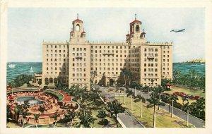 Hotel Nacional de Cuba Pool Havana Caribbean 1950's airplane Postcard