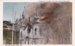 Canada L'Incendie 29 Mars 1922 Ste Anne De Beaupre The Fire 29th March 1922 C...