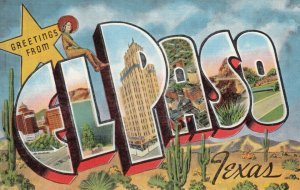 Large Letter Greeting EL PASO , Texas, 1945