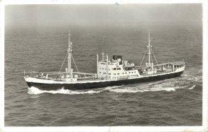 Holland West Africa Line Amsterdam m.s. Peperkust RPPC Ship 06.13
