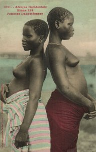 PC CPA ETHNIC NUDE FEMALE DAHOMEY TYPE, WESTERN AFRICA Vintage Postcard (b5443)