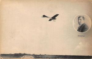 Amerigo Airplane Panorama Postcard
