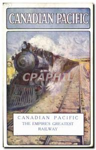 Postcard Old Train Canadian Pacific
