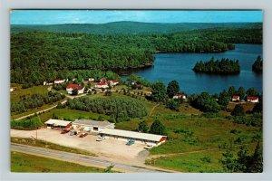 Bancroft ON- Ontario, White Pine Lodge and Motor Hotel, Chrome Postcard