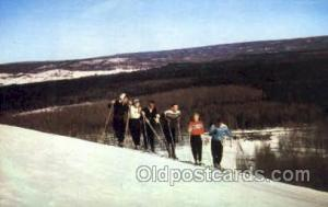 Walloon Lake, Michigan, USA Ski Sking Postcard Post Cards  Walloon Lake, Mich...