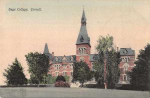 Ithaca New York Cornell Sage College Exterior View Antique Postcard J74613