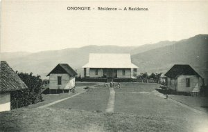 PC CPA PAPUA NEW GUINEA, ONONGHE, RÉSIDENCE, Vintage Postcard (b19791)