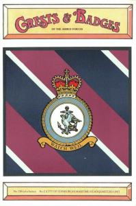 Postcard RAF Royal Air Force No.2 Edinburgh Maritime HQ Unit Crest Badge 138 NEW
