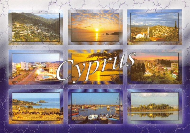 Cyprus Postcard, Multi View by Helios No.8057 F94