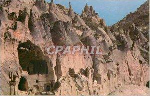 Postcard Modern Kapadokya Habitations Troglodytiques has Zelve