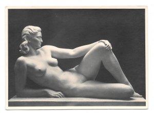 RPPC Klimsch Die Woge Nude Sculpture HDK 427 Heinrich Hoffman Photo 4X6 Postcard