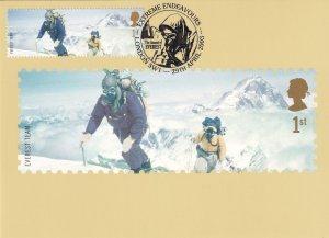 Mount Everest Expedition Team London Limited Edition Postmark Postcard
