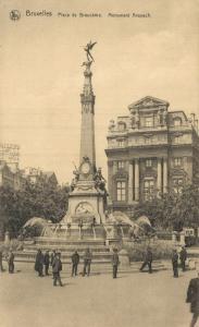 Belgium Brussels Bruxelles - Place de Brouckère Monument Anspach 01.75