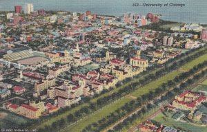 University of CHICAGO, Illinois, 30-40s ; Air View