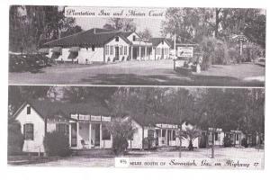 Plantation Inn Motor Court Savannah GA Postcard Motel